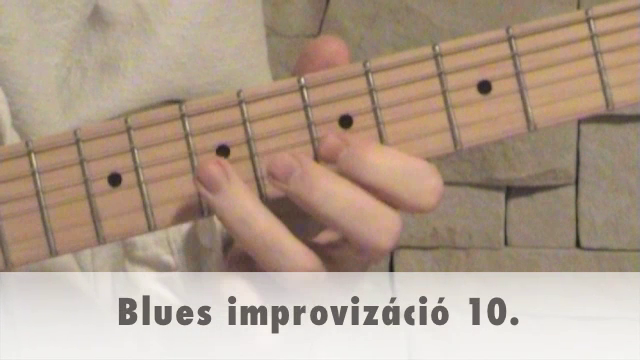 Blues improvizáció 10.