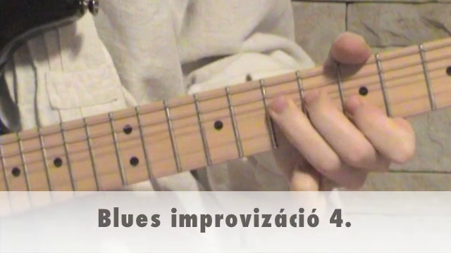 Blues improvizáció 4.