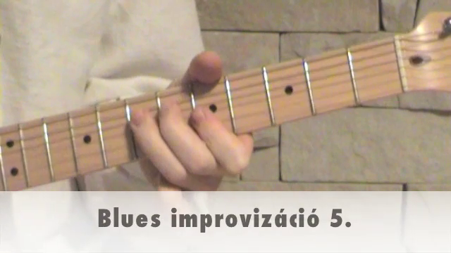 Blues improvizáció 5.