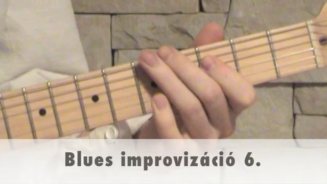 Blues improvizáció 6.