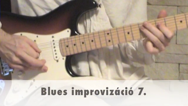 Blues improvizáció 7.