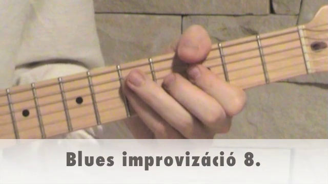 Blues improvizáció 8.