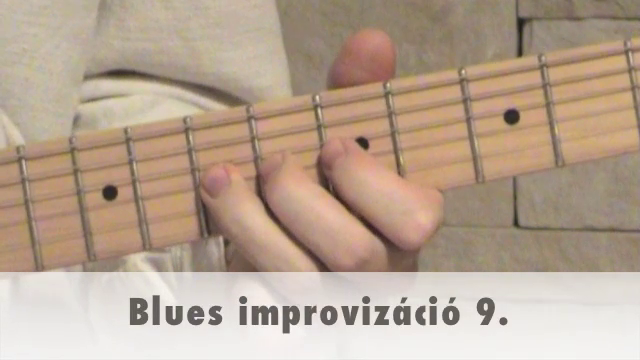 Blues improvizáció 9.
