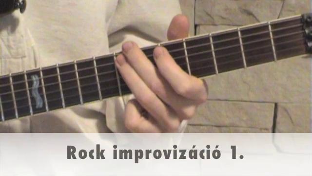 Rock improvizáció 1.