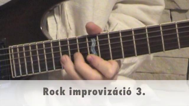 Rock improvizáció 3.