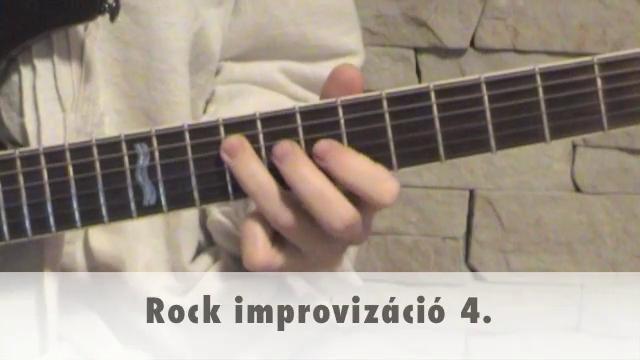 Rock improvizáció 4.