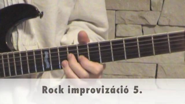 Rock improvizáció 5.