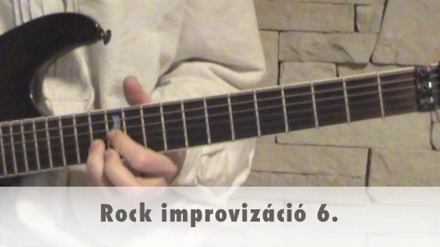 Rock improvizáció 6.