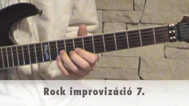 Rock improvizáció 7.