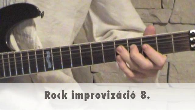 Rock improvizáció 8.
